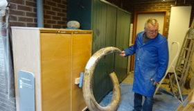 Gigantische mammoet-slagtand van Slootermeer naar de tandarts